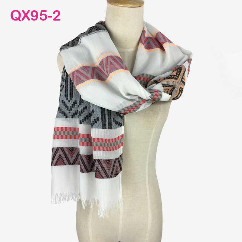 d88dbe264 ... Gorgegous Branded Long Cotton Shawl Very comfortable Jacquard Hijab  Wrap Pashmina Women Fashional Yarn-Dyed