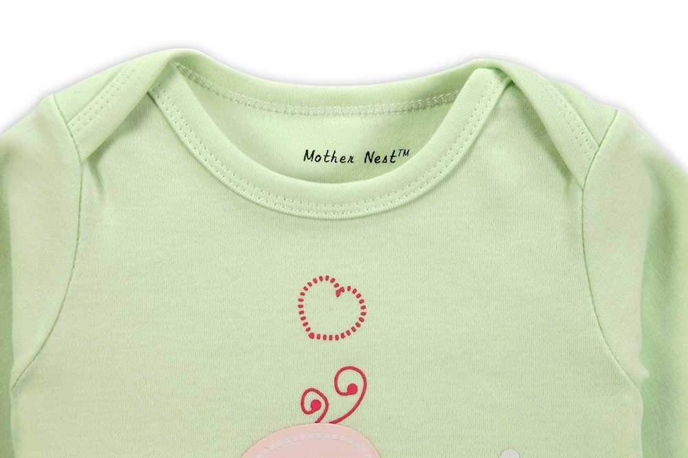 Мамы гнездо Baby Боди Спортивный костюм для малышей длинный рукав хлопок Зимняя одежда Одна деталь гнездо нижнее белье с круглым вырезом Одежда для малышей