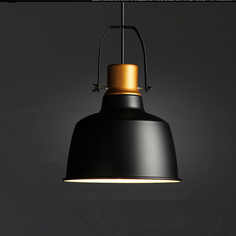 Vintage lamps pendant lights aluminum gold pot industrial for Old looking light fixtures