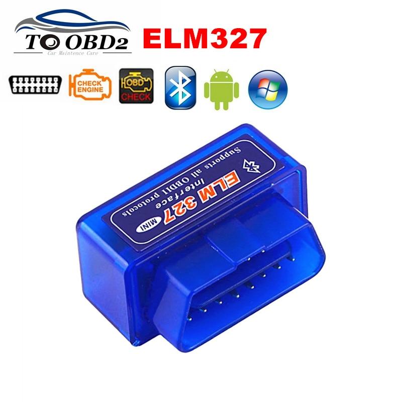 OBD2 Car Diagnostic Scanner ELM327 Bluetooth OBD Code Reader Newest V2.1 Works Multi-Brand Cars ELM 327 Supports Multi-Protocols