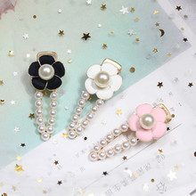 Baroque Pearl alloy Camellia Flower Hairpin Bobby Pin Hair Clip Hairband Barrette  Crab claw Claw clip Headdress Accessories недорого