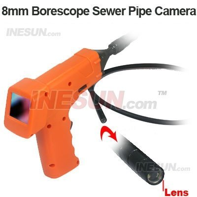 Borescope Sewer Pipe Drain Seesnake Inspection 8mm Camera Head