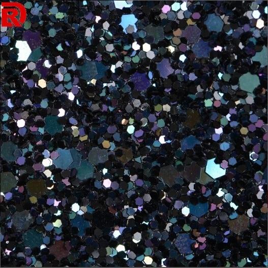 (50meters/lot) Laser Black Iris Glitter Wall Covering