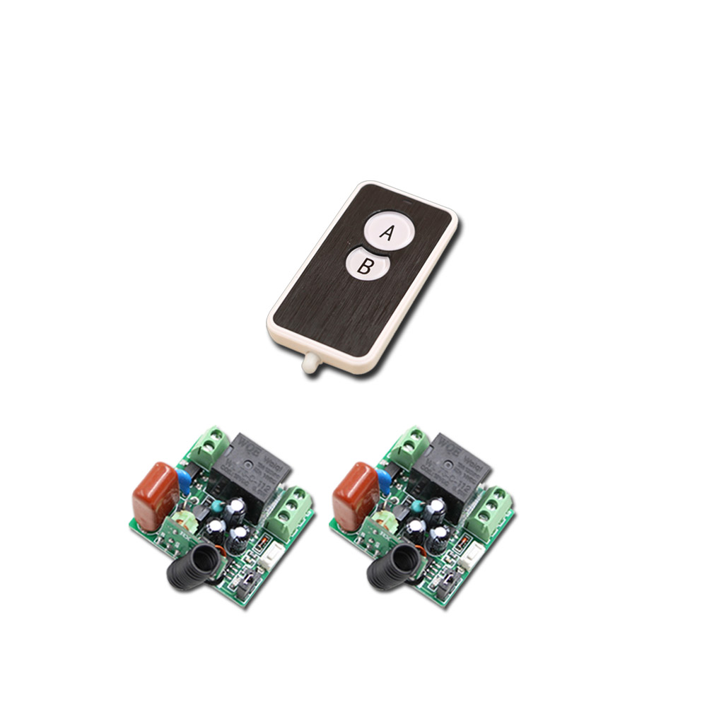 Square Mini Size RF Wireless Remote Control Switch System 1Transmitter & 2Receiver with Buttons Good Quality 315/433mhz wireless pager system 433 92mhz wireless restaurant table buzzer with monitor and watch receiver 3 display 42 call button