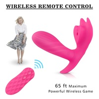 Wearable Butterfly Silicone Wireless Remote Control Vibrator Massager Dildo Vibrator USB Charging G spot Clitoris Suck Vibrator