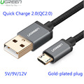 Ugreen Mi4 QC2.0 Micro USB Cable For Samsung Galaxy S6 2.4A Rapid Charge cable for Huawei P8 HTC LG Sony Meizu MX2 3 4 Data Line