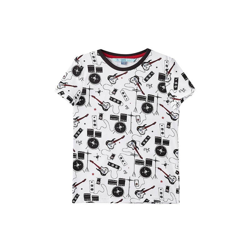 T-Shirts MODIS M182K00170 for boys kids clothes children clothes TmallFS kids outfits letter pattern t shirts in white