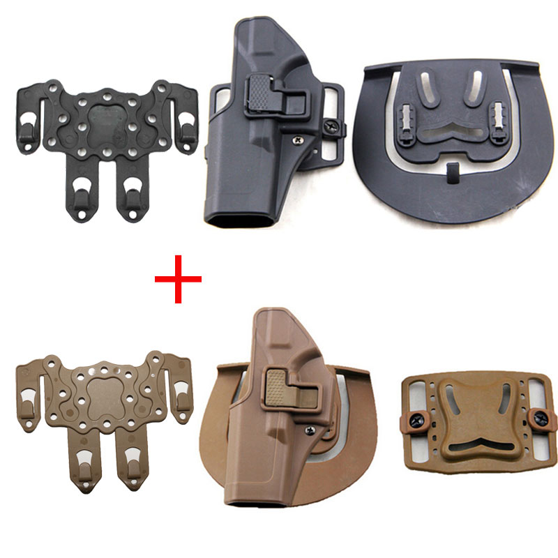 US $6 0 20% OFF|Tactical Glock Holster Left Hand Pistol Magazine Paddle  Adapter For Glock 17 18 19 22 23 26 32 Airsoft Gun Holster Black Tan-in