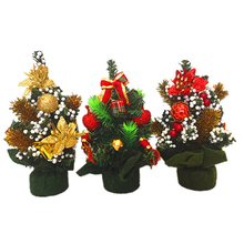 20cm Mini Christmas Tree Table Desk Display Xmas Party Room Ornament Decor