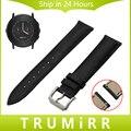 Venda de Reloj de la Correa de primera Capa de Cuero Genuino de Liberación rápida para Pebble Tiempo Ronda 20mm Bradley de la Muñeca Reloj de Pulsera Negro marrón