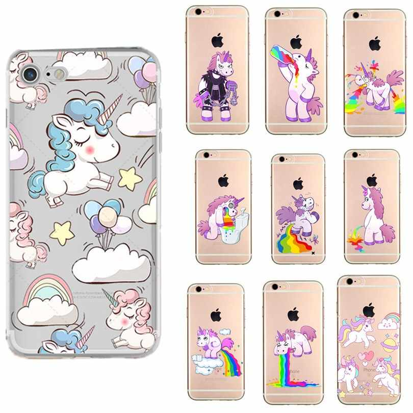 Coque Per iphone 6s accessori caso Unicorn Flamingo dinosauro capas Per Il caso di iphone 7 plus 8 più di 6 6 s X XS 5 s 5 se fundas copertura