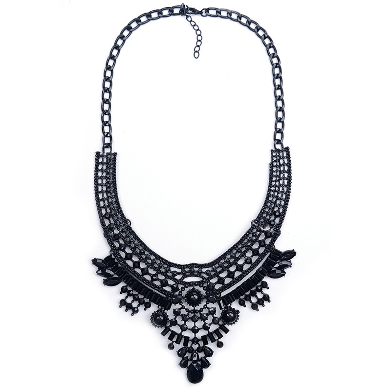 Bohemia Ethnic Style Charms Suspension Necklace for Women Statement Vintage Pendants Choker Necklace Jewelry 918