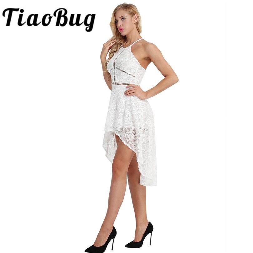 2018 Sommer Kleid Sexy Sleeveless Burgund Weiß Spitzenkleid Elegante Maxi High-low Hem Kleid Weibliche Vestidos Verschiedene Stile