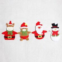 New Christmas Bag Dinner Table Cutlery Holder Decoration for Home Snowman Santa Claus Knife Fork Holder