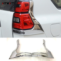 AITWATT Car Styling ABS Chrome Rear Tail Light Cover Taillight Cover Trims 2Pcs Set For Toyota