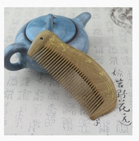 Natural Green Sandalwood Comb Sandalwood Comb Antistatic Combs Straight Hair Curtains Portable Wooden Combs