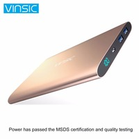 VINSIC 20000mAh Powerbank Extenal Battery Pack Portable Power Charger Fast Charger Universal Power Bank LED Display