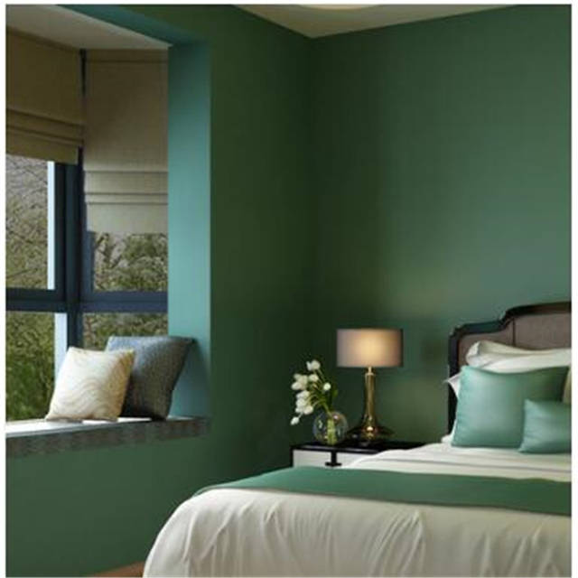 Beibehang Amerikanischen Dorf Retro Tapeten Schlafzimmer Wohnzimmer  Vliesstoffe Reine Farbe Uni-tapete Südostasien GRÜN