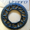 50T 52T54T56T58T Road Bike 130BCD Ulnar Disc Folding Bike Crankset Protect Cover Cap Bike Crank Set