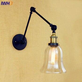 Antike Loft Retro Industrielle Wandleuchte Wandlampen Edison Schaukel Langen Arm Wandleuchte Vintage Wandlampen Appliques Pared Murale