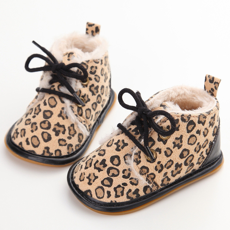 2019 Vintage Rubber Bottom Winter Baby Shoes Boots Non-Slip Newborn Infant T-tied First Walkers Super Warm Baby Booties Zapatos