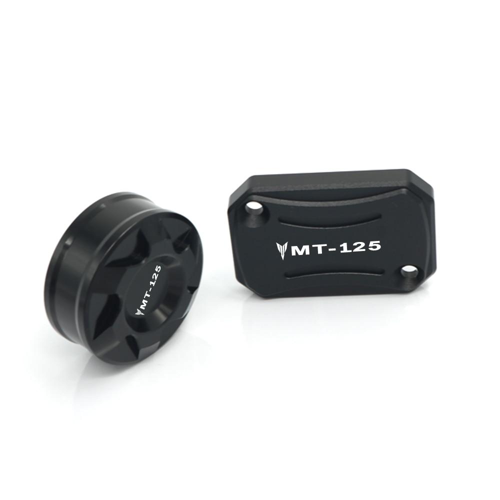 For YAMAHA MT125 MT 125 MT-125 2014-2018 2017 Front Rear Brake Reservoir Cover Motorcycle Master Cylinder Oil Fluid Cap