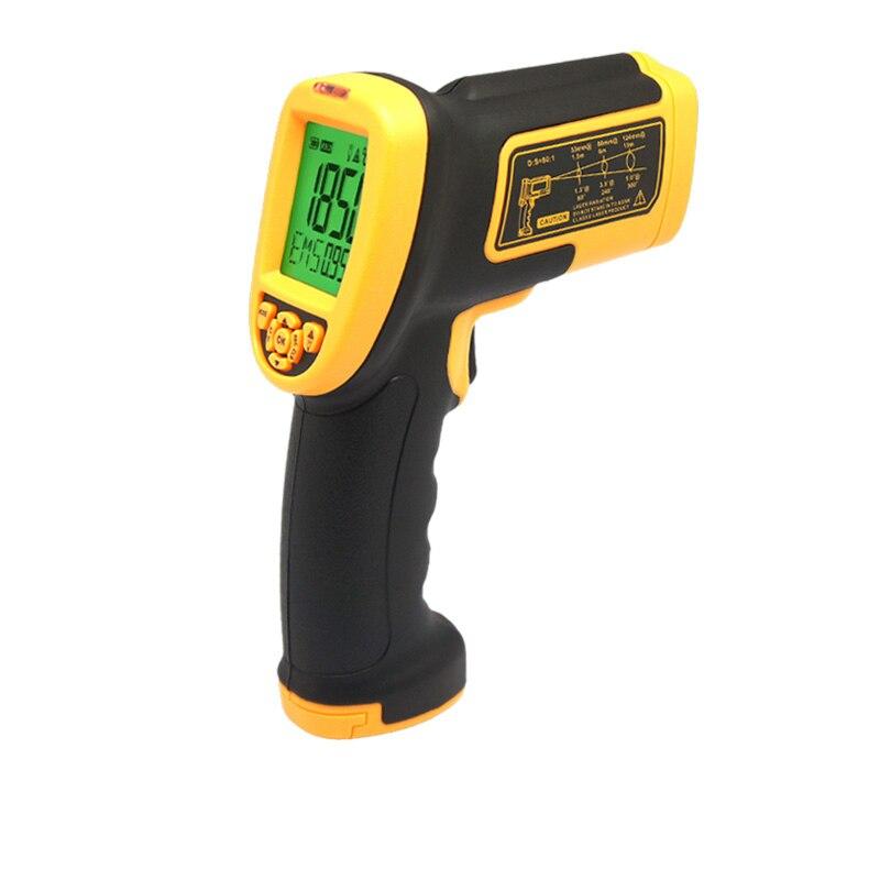С коробкой Бесконтактный лазерный ЖК дисплей дисплей цифровой инфракрасный термометр измеритель температуры дулом пистолета 200 1850 градусо