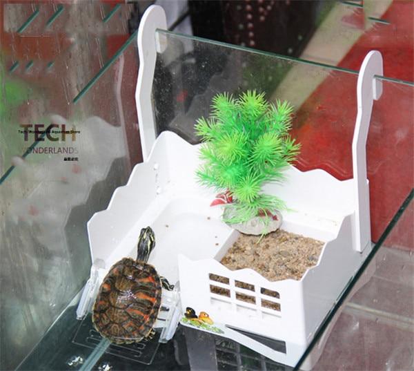 Aquarium ornament floating Basking Platform for Reptiles lay eggs Turtle play Platform climb ...