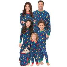 235e4c2af07a6 Lots de Vêtements Pour famille Noël Noël Pyjamas Ensembles Enfants Adultes  Pour La Famille Pyjama T