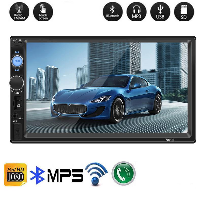 Universal 2 Din Car Radio MP5 Multimedia Player 7'' HD Touch Screen Audio Stereo Bluetooth USB AUX Support Rear Camera Player
