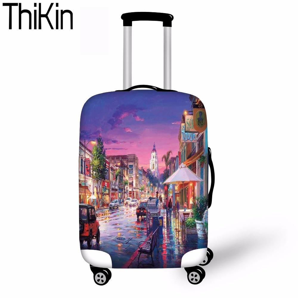 Thikin Case Cover Beschermende Regen Bagage Cover Landschap Venetië Reizen Accessoires Voor 18-30 Inch Kofferbak Case Koffer Cover Nieuwe Laatste Mode