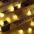 6 M En Forma de Bola 50 Festival del banquete de Boda de Navidad LED de Hadas de Cadena de Luz LED Cortina Ligera de la Batería Potencia Casa Celebración decoración
