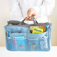 Organizer Insert Bag women Portable Travel Handbag Purse Large Liner Lady Makeup Cosmetic