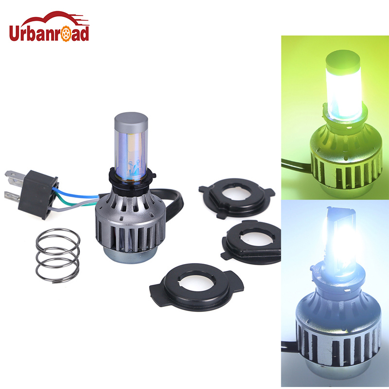H4 LED Motorcycle Headlight Bulbs BA20D Scooter Flasher Fog Lights For Suzuki Ktm Wxc Cafe Racer Harley Motorcycle Accessories