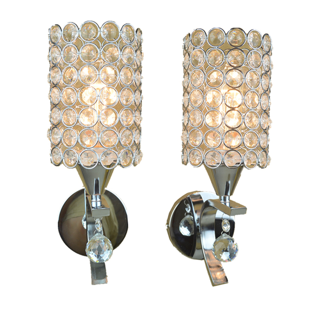 Zilver LED Crystal Wandlamp Voor Slaapkamer Verlichting Kristal ...