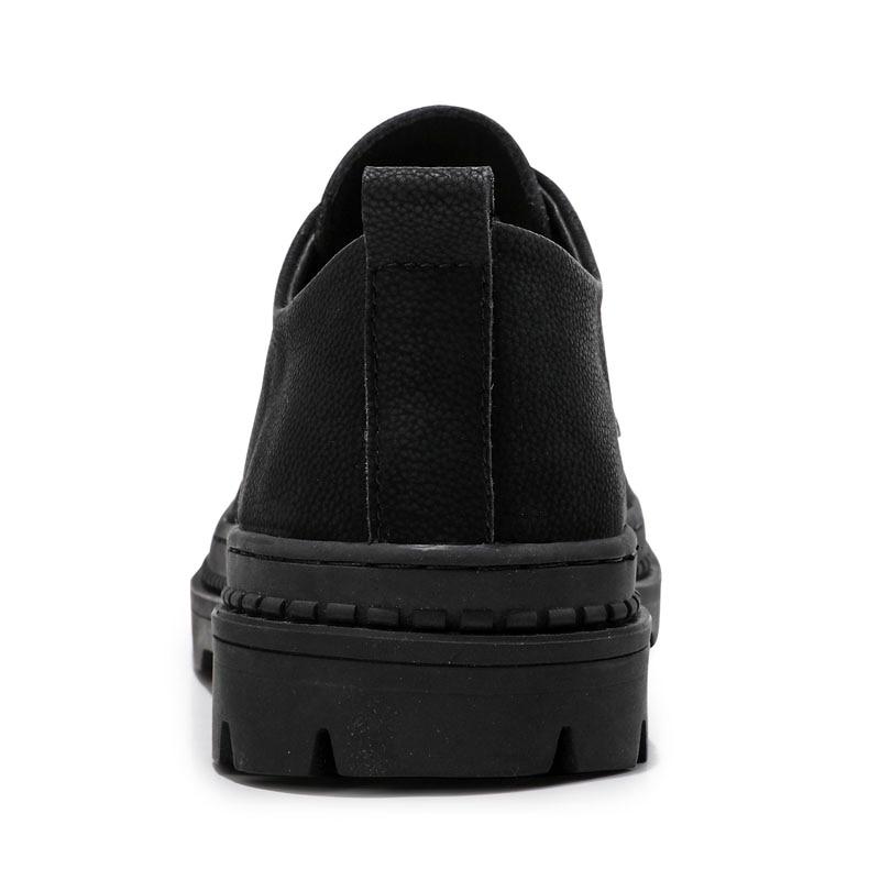 Cuir Printemps Automne Mâle À Bottes Véritable Noires Chaussures En Confortables De Nouveau Mode Noir Lacets Yoylap Bullock Hommes Doux y7bf6Yg