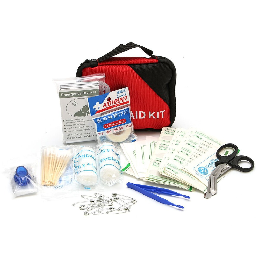 303 Piece Emergency First Aid Kit bag Oxford Pouch Outdoor Household Car Bag Survival Portable Travel Rescue Bag