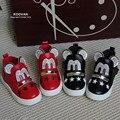 Crianças botas koovan 2017 estrelas da moda soft shoes mickey strass rebites de couro meninos meninas shoes primavera outono casual