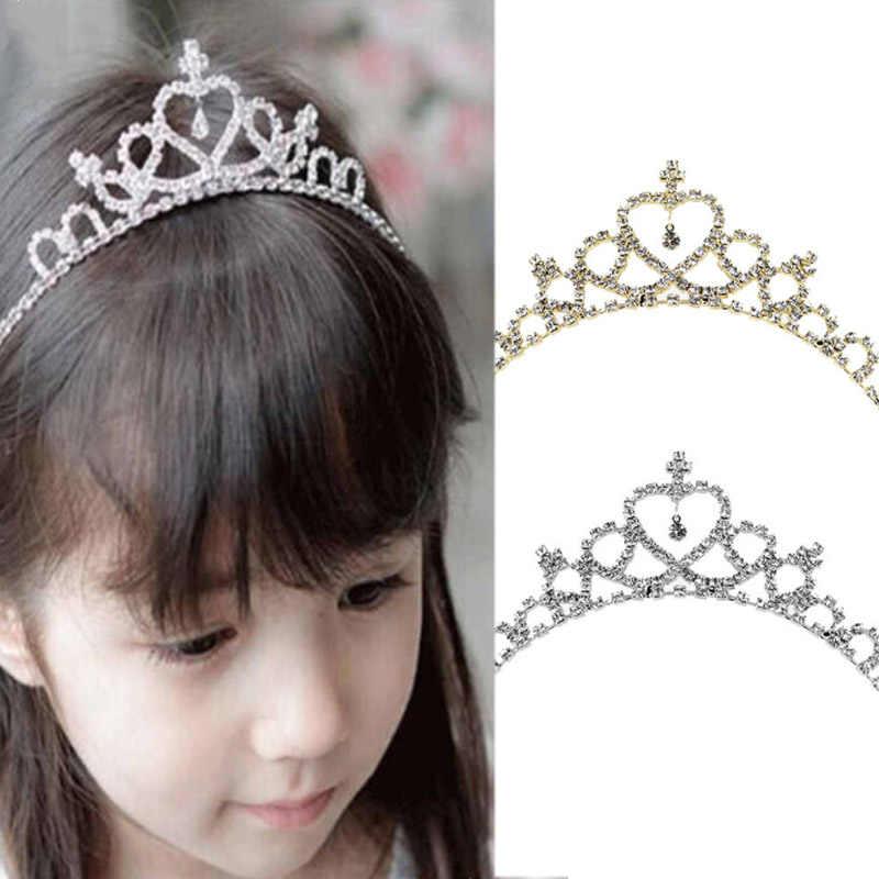 Crystal Tiara Hair Band Kid Girl Bridal Princess Prom Crown Kid Girl Party  Accessiories Bridal Princess b4ac981db837