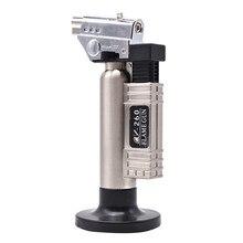 치과 부탄 가스 마이크로 토치 버너 용접 납땜 총 라이터 화염 용접기 방풍 화재 소스 마이크로 화염 총/라이터