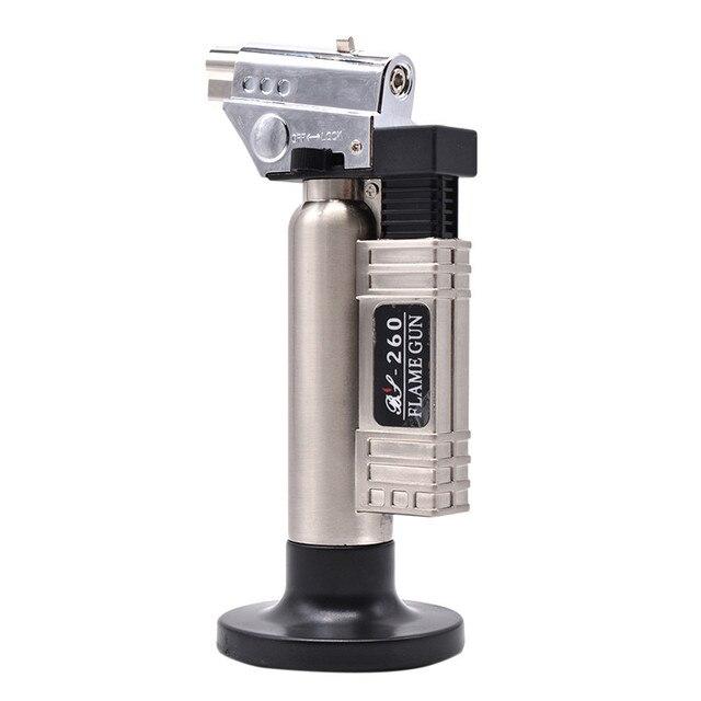 Gás butano dental micro tocha queimador de solda arma mais leve chama soldador à prova vento fonte fogo micro chama arma/isqueiro