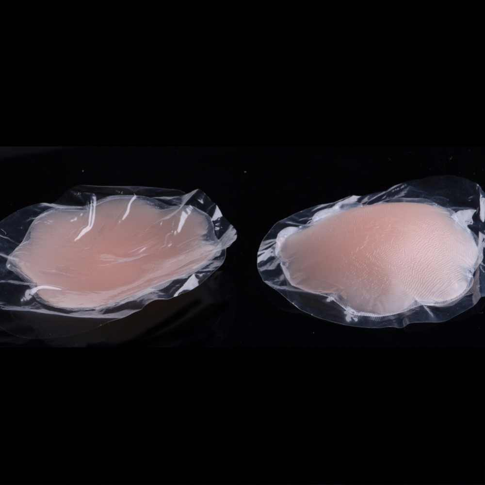 Sıcak kullanımlık kadınlar görünmez kendinden yapışkanlı silikon meme göğüs meme kapak sutyen Pasties Pad Petal Mat çıkartmalar aksesuarları