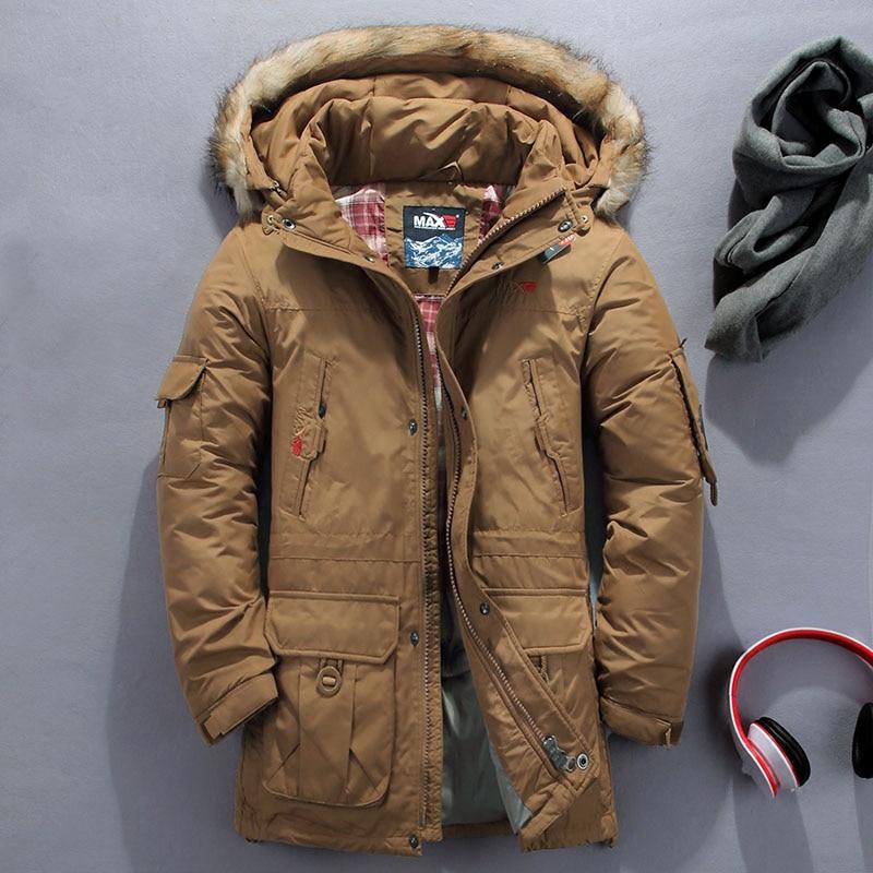 Los hombres desmontable forro grueso con capucha chaqueta de invierno de los hombres ropa de invierno para los hombres largo Collar de piel de gran tamaño abrigo chaquetas 5XL 6XL
