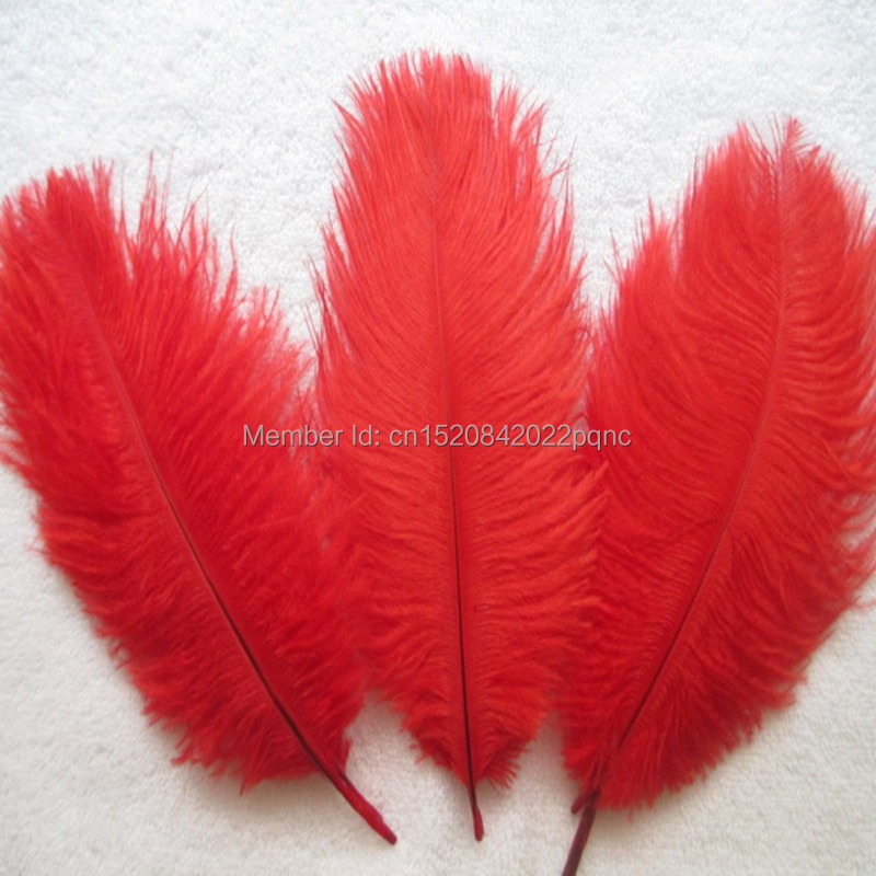 Apparel Sewing & Fabric Systematic Wholesale 10pcs Beautiful High Quality Red Ostrich Feathers 6-8 Inches/15-20 Cm For Party/wedding Decoration Relieving Rheumatism And Cold