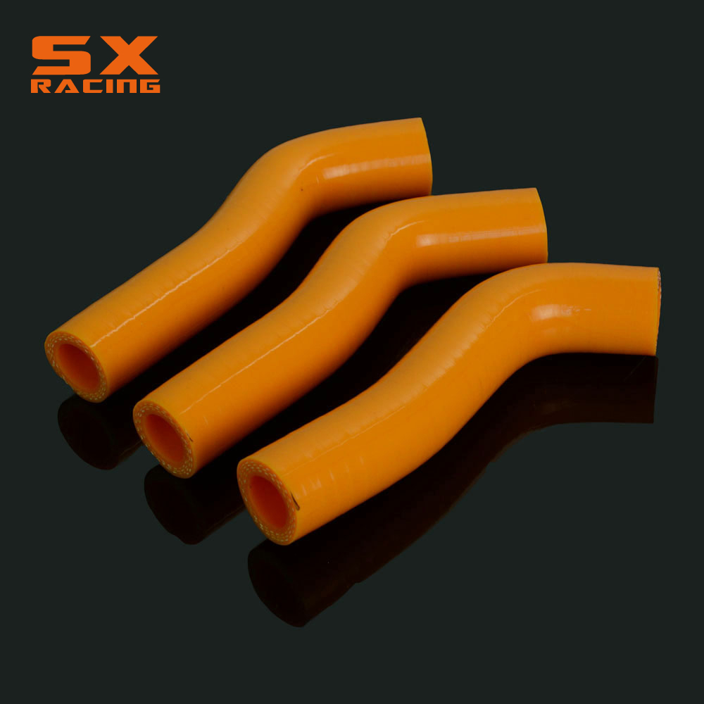 Motorcycle Orange Water Pipe Silicone Radiator Coolant Hose For <font><b>KTM</b></font> SXF250 XCF250 <font><b>SXF</b></font> XCF <font><b>250</b></font> <font><b>2007</b></font> 2008 2009 2010 Dirt Bike image