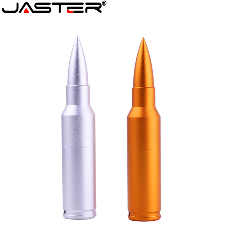 Computer & Office External Storage Ambitious Jaster Metal Golden Silver Bullet Usb Flash Drive Gun Bullet Pendrive 4gb 8gb 16gb 32gb 64gb Memory Stick Keychain Usb 2.0