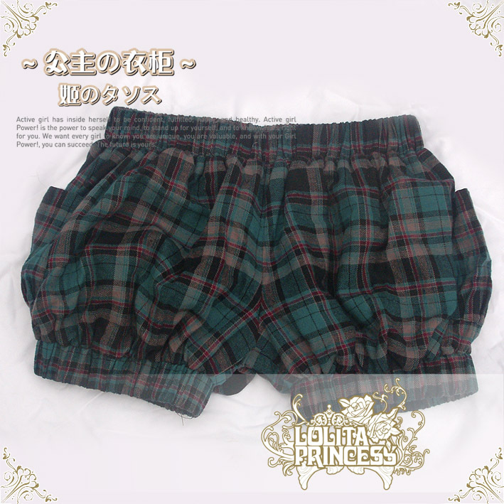 Fashion Cute Plaid  Lolita Shorts Bloomers  Any Size