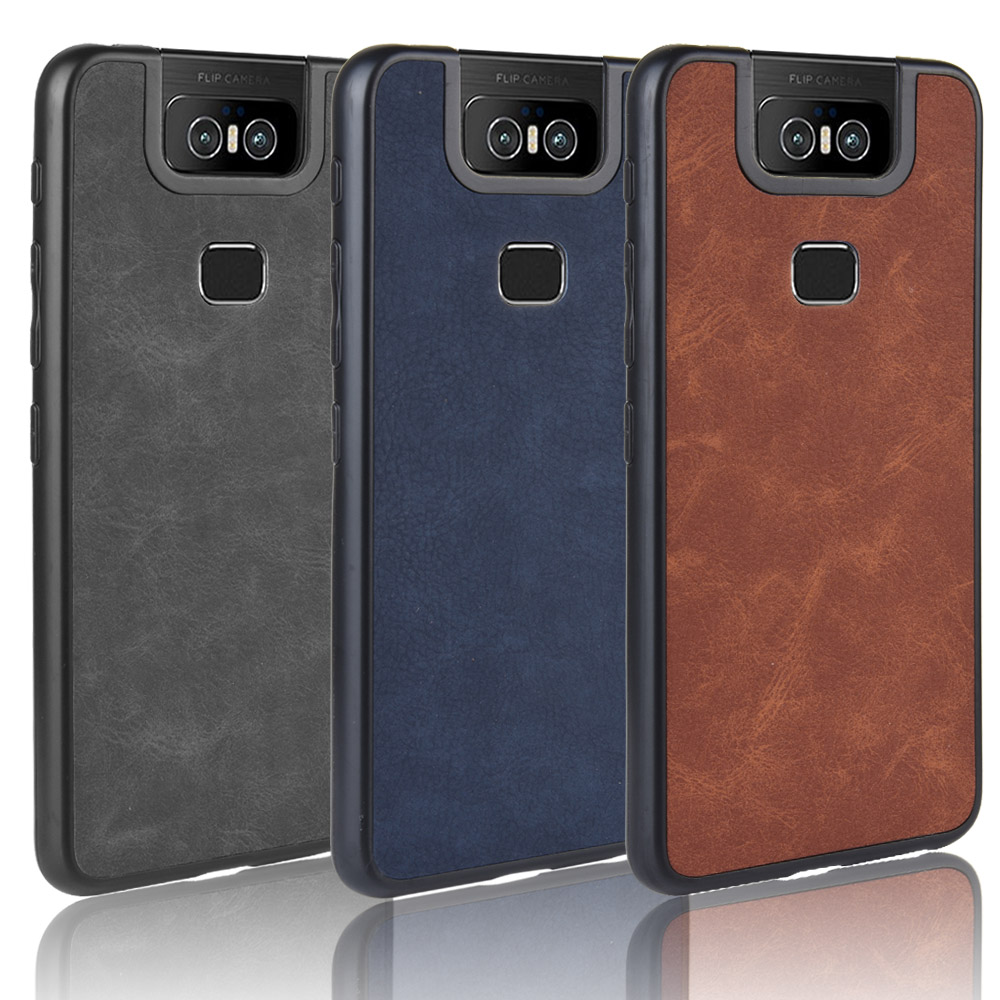 For Asus Zenfone 6 ZS630KL TPU+PU+PC Retro Leather PU Leather Cover For ASUS ZS630KL ZS ZS630 630 630KL KL Phone Bag Cases