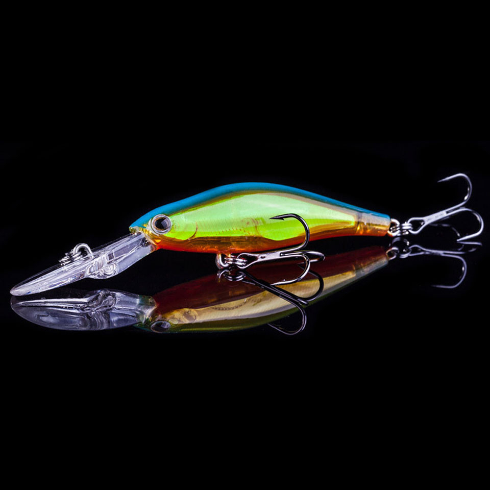 1PCS Minnow Fishing Lure 7.3g 9cm 3DMinnow Fishing Lure Laser Hard Artificial Baits 3D Fish Eye Minow Lures Fake Bait High Imita 30pcs set fishing lure kit hard spoon metal frog minnow jig head fishing artificial baits tackle accessories