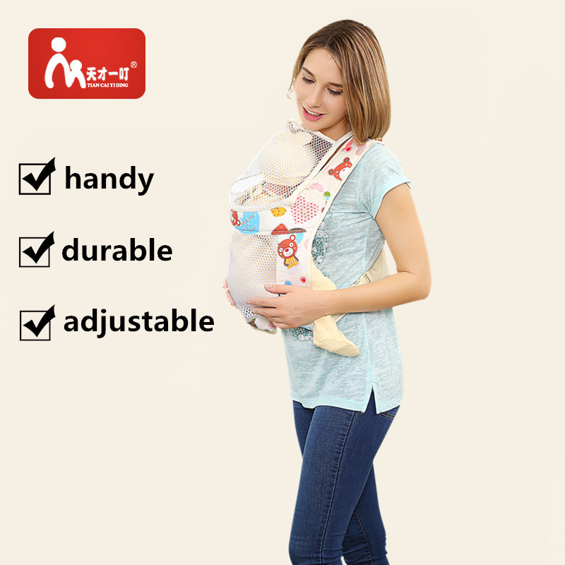 Hot Colorful pattern mesh cotton Baby Carrier Soft Breathable Ergonomic Baby Carrier Hip seat Baby Backpack Sling free shipping